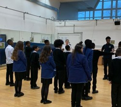 Year 7 Police Cadets Learn How to March