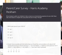 Parent/Carer Survey