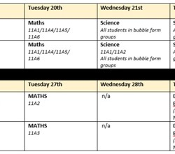 Year 11 October Half Term Revision Timetable - Download Here