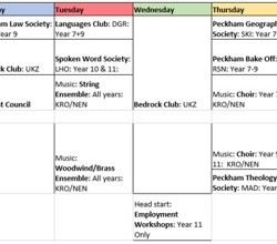 After-School Clubs - Online Timetable Here