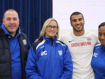 GB Athlete Adam Gemili visit S...