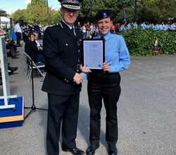 Nadine is Outstanding Police Cadet of the Year