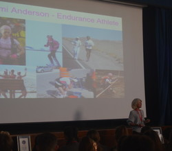 Endurance Athlete Mimi Anderson Inspires Students