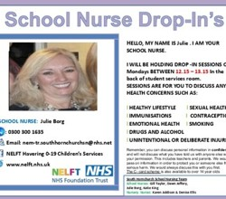 School Nurse Julie, Drop-In Sessions, Monday Lunchtimes