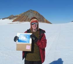 Students' Flags Fly in Antarctica