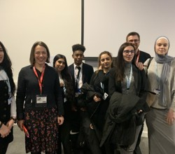 Tara Leathers Deputy CEO of Princes Trust talks to sixth formers about their future careers at HASJW