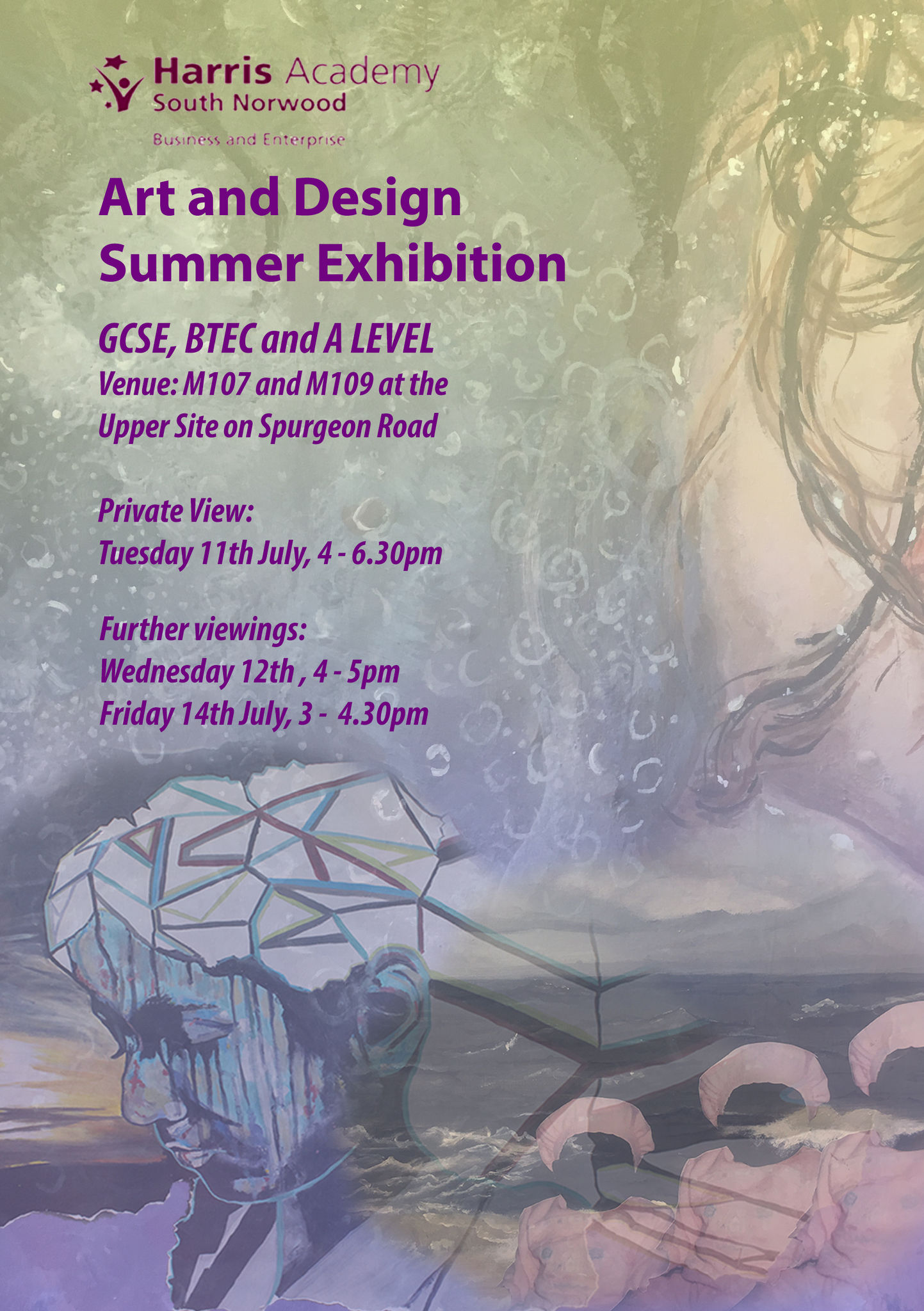 Art gcse exhibition invite 2017