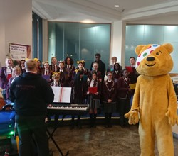Our lovely choir performing to raise money for Children In Need