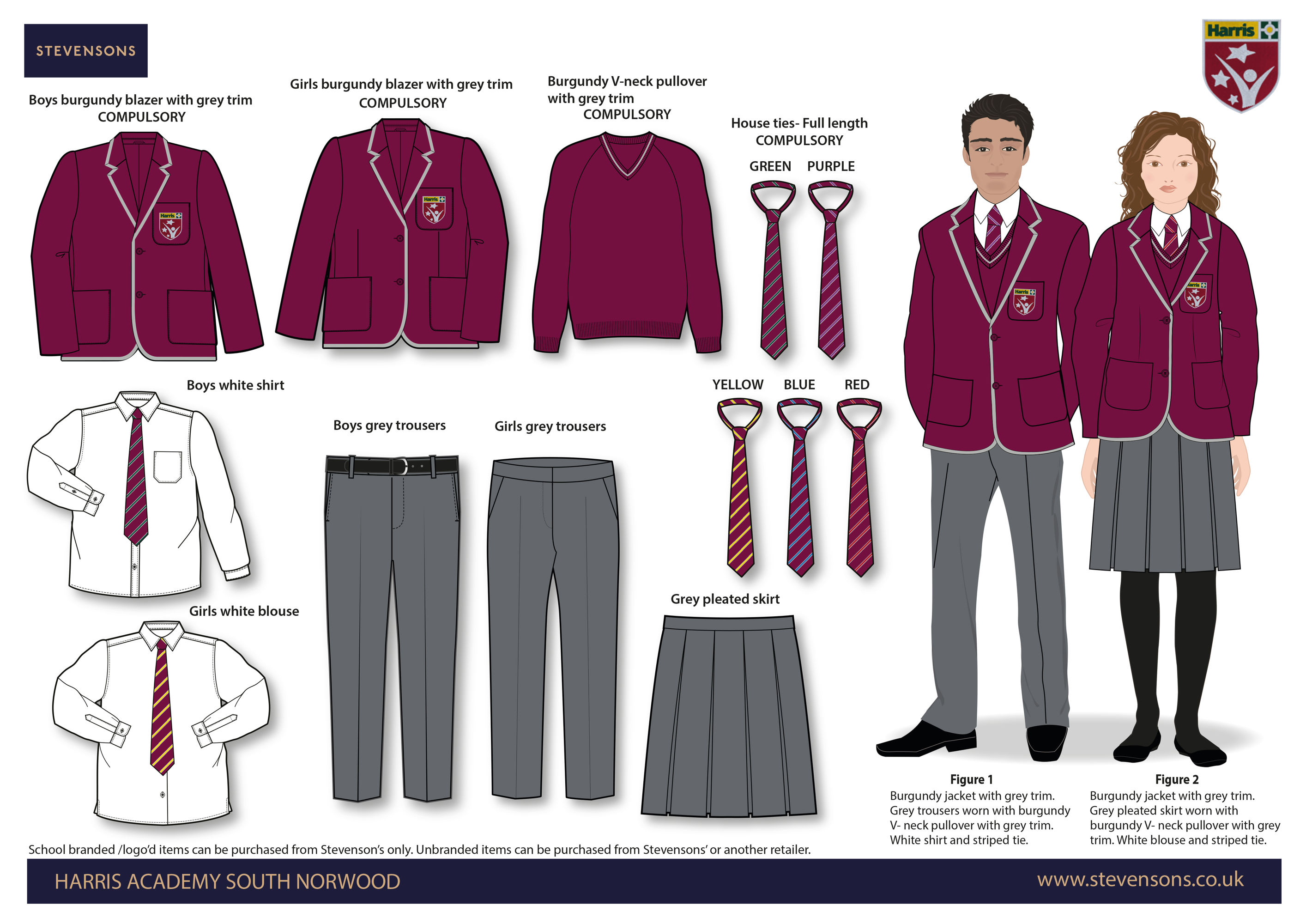 Harris Academy South Norwood DAYWEAR BOARD