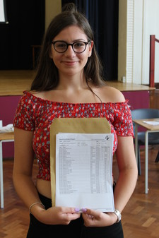 Sstudent showing gcse results3