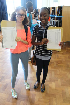 Student showing gcse results2
