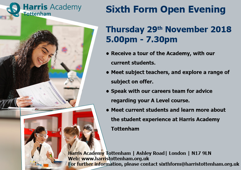Sixth Form Open Evening   November 2018