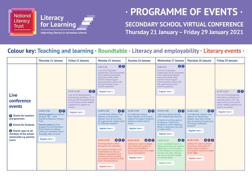 LfL Conference Timetable