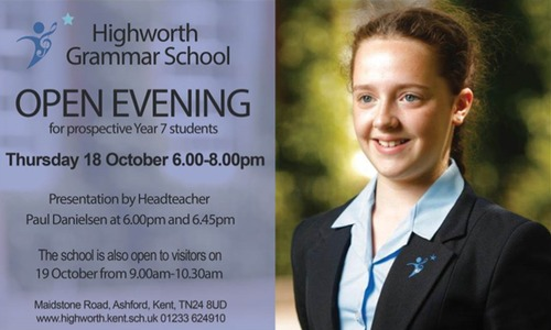 Open Evening and Open Morning for Prospective Year 7 Students