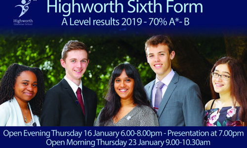 Sixth Form Open Evening Thursday 16 January 2020 6-8pm