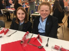 Christmas dinner students 2019