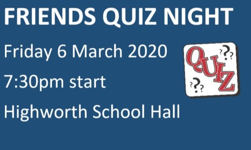 Friends Quiz Night Friday 6 March