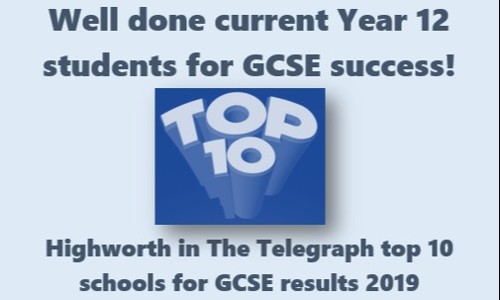 Well done to Year 12 students