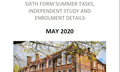 Summer Tasks to Prepare for Highworth Sixth Form