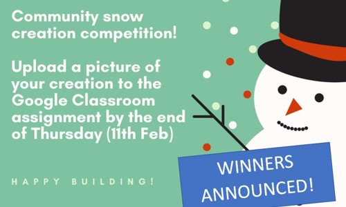 Community Snow Creation Competition Winners