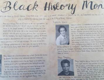 Winners of Black History Month Poster Competition