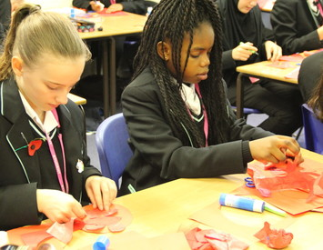 Making Poppies for World War One Centenary