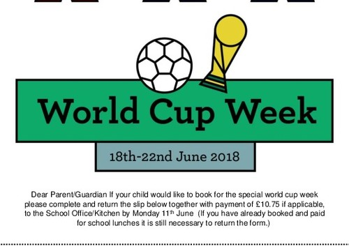 World Cup week menu