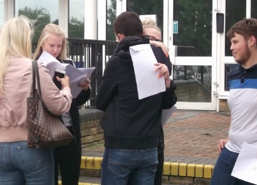 A Level Results  Day at The Hundred of Hoo Academy