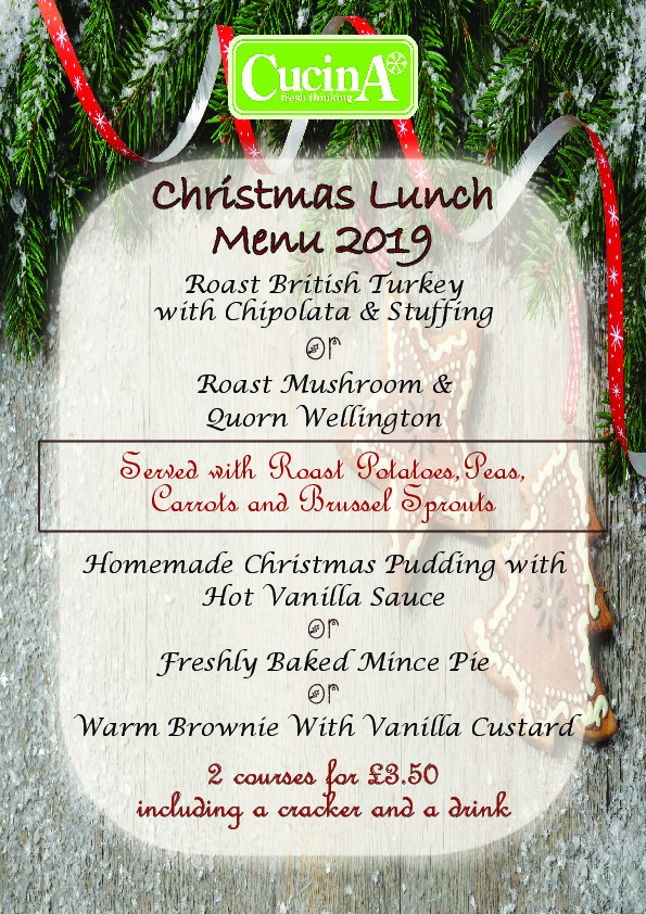 Christmas Menu    Secondary 2019