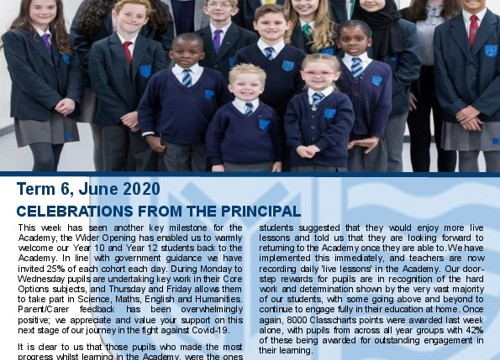 Term 6 - Celebration of Work Weekly Newsletter