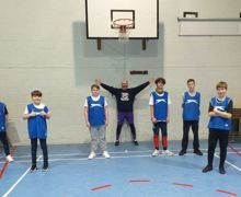 Basketball blue team