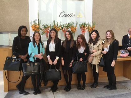 2015 Business Students Visit Coutts Bank