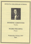 Dominic griffiths and mark fielding 1997