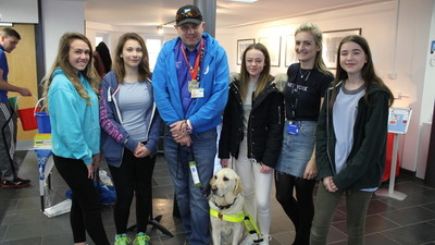 Students raise £1268.58 for Guide Dogs Association