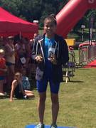 Lara sussex aquathlon medal ceremony