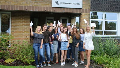Amazing A Level Results at Invicta