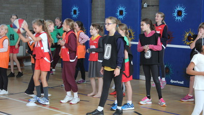 Year 5 students attend a PE Workshop.