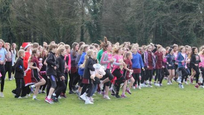 On the last day of term, our whole school took part in our first 'Race for Life'.