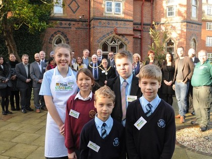 2016 Year 10 Isabella cooks for VIPs after winning Kent Cooks Competition