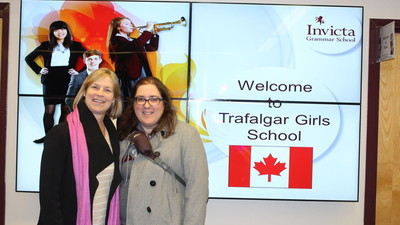 Visit from Trafalgar Girls School, Montreal, Canada