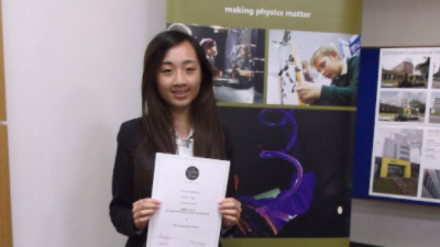 Sarah Soo wins the School Physicist Award
