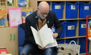 Illustrator, author, concert presenter, storyteller James Mayhew visits Kingshott