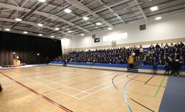 We declare our amazing new Sports and Drama Facility officially open