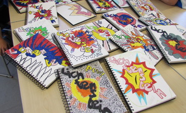 Year 6 Lichtenstein artwork