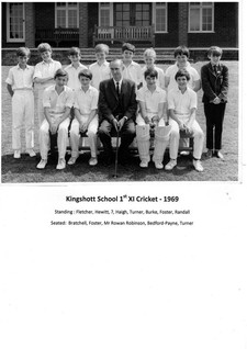 Kingshott 1st xi cricket team 1969