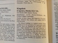 Kingshott mr rr headmaster book entry