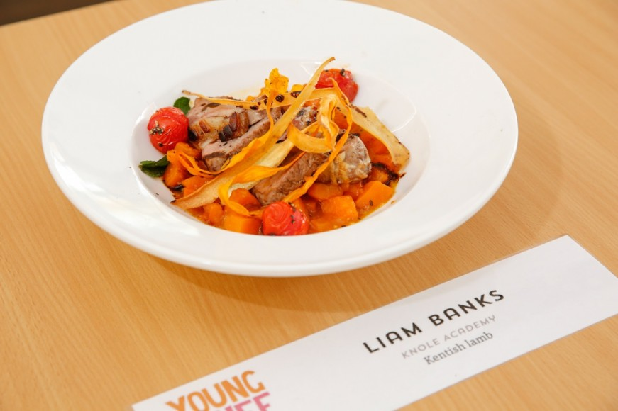Kent Young Chef 2016 - plate of food Liam Banks