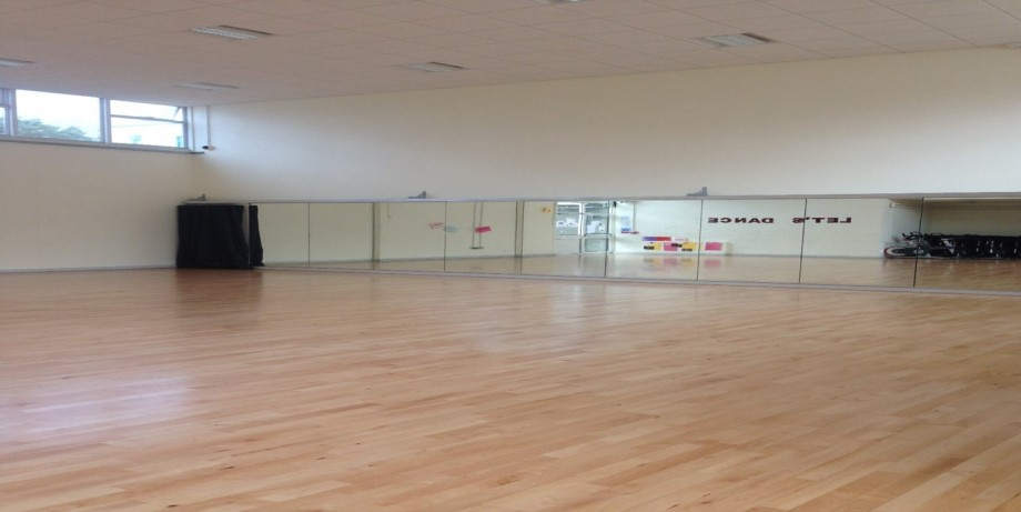 Dance studio image with new floor