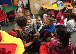 Mystery readers appear in class