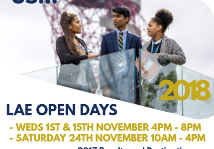 Come and visit LAE at one of our Open Events!